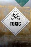 Grungy токсический ярлык Стоковые Изображения RF