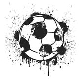 Grungy черная предпосылка футбольного мяча Стоковое Изображение RF