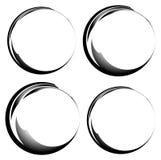 Grungy чернила, круги подкраской Комплект версии 4 Handdrawn круг fra Стоковая Фотография RF
