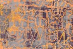 Смешанная Grungy оранжевая предпосылка шрифтов иллюстрация штока