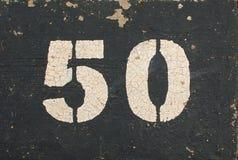 Grungy aantal vijftig stock afbeelding