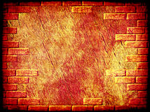 Grungy abstract background with brick frame border. Digitally generated image Stock Photo