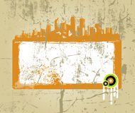 Grungy abstract banner design Stock Photo