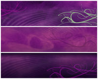 Grungy Abstract banners or Headers Stock Photography