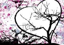 Grungy abstracte rooster van het liefdeontwerp stock illustratie
