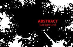 Grungy abstracte Verf ploetert Vlekken zwart-witte achtergrond royalty-vrije illustratie