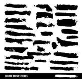Grungy abstrakt begrepp hand-målade borsteslaglängder Stock Illustrationer