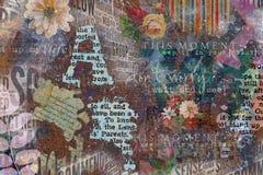 Grungy abstrakt collagebakgrund Arkivbild