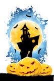 Grungy achtergrond van Halloween Stock Foto's