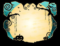 Grungy achtergrond van Halloween Royalty-vrije Stock Afbeeldingen