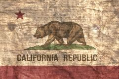 Grungy State Of California Flag. Grungy aged and distressed State of California flag royalty free stock image