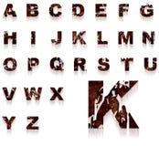 Grungy alfabet van de roest Royalty-vrije Stock Foto's