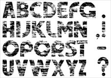 Grungy alphabet Royalty Free Stock Photography