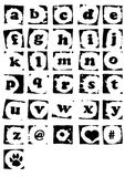 Grungy Alphabet Illustration Royalty Free Stock Images
