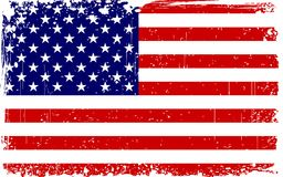 Grungy American Flag Stock Image
