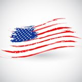 Grungy American Flag Background Royalty Free Stock Image