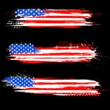Grungy American Flag Banner Stock Photos
