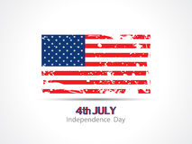 Grungy american flag design for independence day. Stock Images