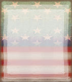 Grungy american flag frame. Raster Illustration Vector Illustration