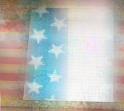 Grungy american flag frame. Raster Illustration Stock Illustration