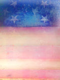 Grungy american flag frame. Raster Illustration Royalty Free Illustration