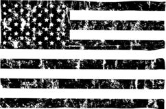 Free Grungy American Flag Mockup,black And White, Stars And Stripes, Vector Stock Photo - 160291520