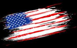 Grungy Amerikaanse Vlag stock illustratie