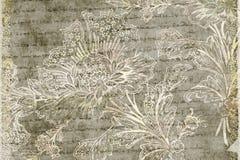Grungy antieke bloemenachtergrond vector illustratie
