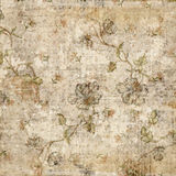 Grungy Antieke Uitstekende BloemenAchtergrond royalty-vrije stock foto's