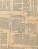 Grungy antik tidningspapperscollage Arkivbild
