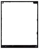 Grungy antikes negatives Foto-Feld vektor abbildung