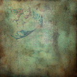 Grungy antique angel paper Stock Image