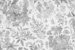 Grungy antique damask floral background. A grungy antique damask floral background, desaturated Royalty Free Stock Photos