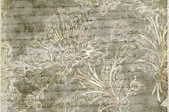 Grungy antique floral background Royalty Free Stock Image