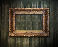 Grungy antique frame. Grungy antique wallpaper background with frame Vector Illustration