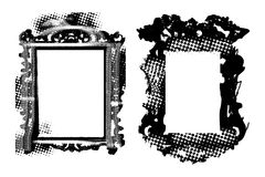 Grungy antique frames. Grungy vintage frames - vector, scalable to any size, place your pix Royalty Free Stock Photos