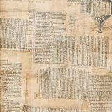 Grungy Antique Newspaper Paper Collage Stock Photo