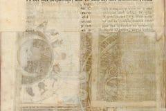 Grungy antique tribal parchment background vector illustration