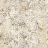 Grungy Antique Vintage Floral Background Royalty Free Stock Image