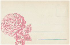 Grungy Antique Vintage Floral postcard Background Stock Photography