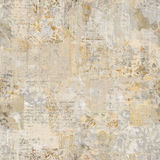 Grungy Antique Vintage Floral wallpaper collage Background. With antique ephemera Stock Image