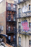 Grungy apartment buildings nyc Stock Images