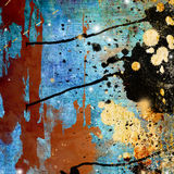 Grungy art. Artwork in grunge style with paint splats Stock Photos