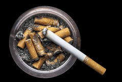 Grungy Ashtray Royalty Free Stock Images