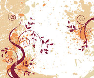 Grungy autumn background Stock Images