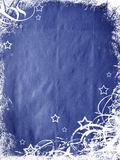 Grungy back. Blue grungy background with frosty edges royalty free illustration