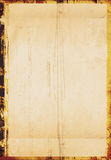 A grungy background. A piece of grungy old paper with distressed border Royalty Free Stock Photos