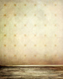 Grungy background. Grungy wall and old wooden floor Stock Photo