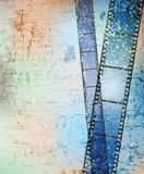 Grungy background. With damaged filmstrips. eps10 Royalty Free Stock Image