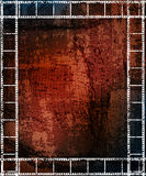 Grungy background. With filmstrip frames. eps10 Royalty Free Stock Photo